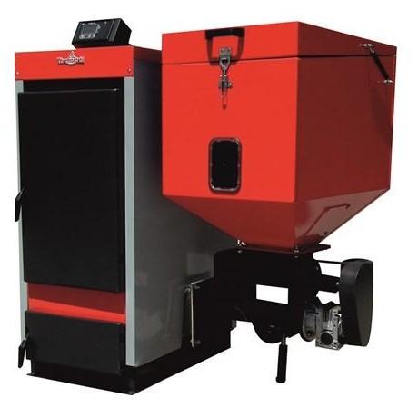 Cazan cu funcționare pe pellet-biomasă și lemne ECOBIO