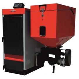 Cazan cu funcționare pe pellet-biomasă și lemne ECOBIO 50